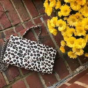 Rebecca Minkoff Leopard Wallet on a Chain